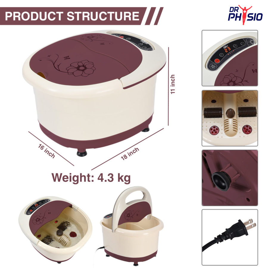 Dr. Physio Foot spa massager with auto roller_Visuel_3